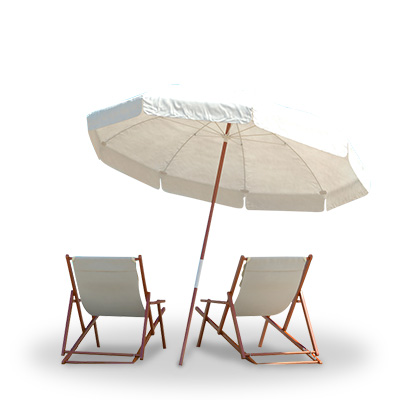 Vacation beach chairs